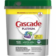 Cascade Platinum Dishwasher Detergent, 16x Strength With Dawn Grease Fighting...