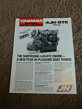 Yanmar Marine Diesel Engine 4JH-DTE Dealer Sales Brochure Sheet Specifications