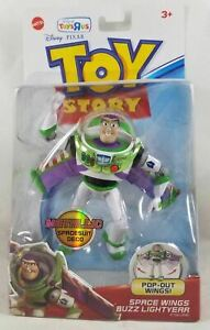 New Disney Toy Story Metallic Spacesuit Deco Buzz Lightyear Space Wings Figure