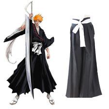Anime Bleach Ichigo Kurosaki Japonesa kendo Pantalones Pantalones Kimono Cosplay Costumes