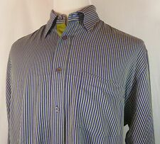 Men's Bugatchi Uomo L/S Shirt Size L VG to EUC! Very Hip! Intl Welcome!