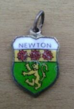 Newton Coat of Arms / Family Crest Silver Plated Enamel Charm