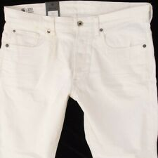 NEW Mens G-Star 3301 TAPERED Tapered White Jeans W34 L32 BNWT