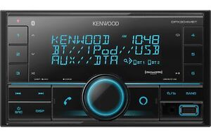 Kenwood DPX304MBT 2-Din Digital Media Receiver with Bluetooth and Amazon Alexa