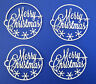 Merry Christmas #2 Title Phrase Intricate Die Cut 4 Pc Scrapbook Embellishment