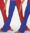 NWT Patriotic Jazz Tap Dance Red Royal Two Toned Spandex Pants Ladies Girls Szs