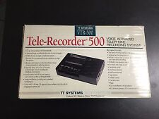 TT SYSTEMS VTR 500 TELE-RECORDER 500 -  VOICE ACTIVATE TELEPHONE RECORDING