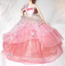 DRESS ONLY ~ BARBIE DOLL MODEL MUSE FANTASY GLAMOUR GLINDA LAYERED EVENING GOWN