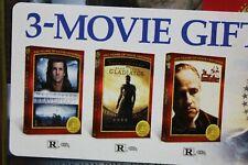 Braveheart, The Godfather, Gladiator Dvd Gift Set New & Still Sealed 3 Movie Set