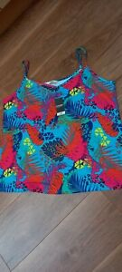 New (NWT) Ladies George at Asda Blue Multi Coloured Vest Top / Cami - Size 18
