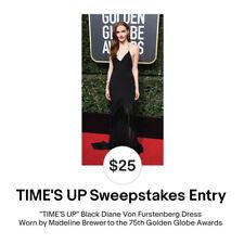 Enter to Win TIME'S UP Madeline Brewer Diane Von Furstenberg Golden Globe Dress