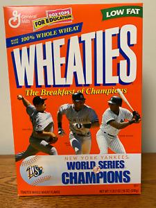 WHEATIES CEREAL FULL BOX NEW YORK YANKEES 1998 WORLD SERIES CHAMPIONS DEREK JETE