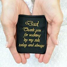 Dad Tie Patch Father of the Bride Gift from Daughter Wedding Embroidered Label