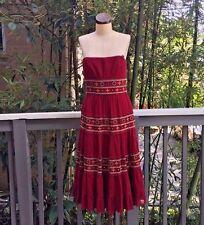 BCBG Max Azria $250 Long Strapless BOHO Peasant Dress NWOT Formal 8