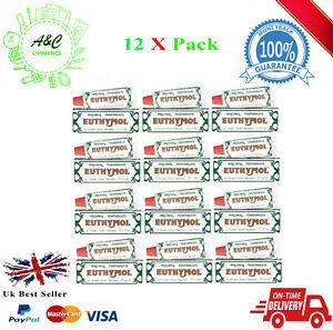 12 X Euthymol Original Toothpaste 75ml EXP 08/2021 UK SELLER