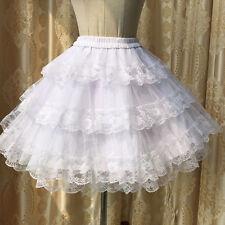 White Black Lolita Girls Skirts Lace Cake Bubble Princess Bust Skirts Summer
