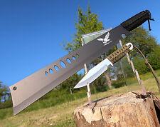Machete + Messer Set Outdoor Jagdmesser Knife Coltello Hunting Cutit M002 + J108