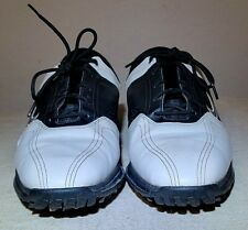 New listing Men's Black & White NIKE HERITAGE Golf Shoes Cleats 336040-101 Sz 10