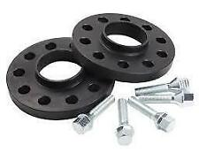 Bmw E39 hubcentric 15mm Black Rueda espaciador Kit Pernos Y m12x1.5