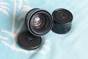 JUPITER-12 Black 35mm f2.8 lens M39 LTM Leica Zorki FED  Biogon Copy