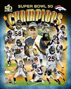 Denver Broncos SUPER BOWL 50 Champions LIMITED EDITION 8X10 PHOTO