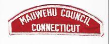 BOY SCOUT   MAUWEHU COUNCIL  /  CONNECTICUT    RWS  RATED#6   $165.00