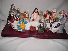 LAST SUPPER Sculpture Figurine - Religious - Color - NEW ! -POLY -RESIN
