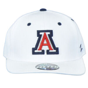 NCAA Zephyr Arizona Wildcats White Adult Curved Bill Fitted Size 7 1/2 Hat Cap
