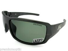DIRTY DOG Polarised BUBBA Sunglasses Grey Silver / Green POLARIZED 53005