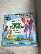 "WALT DISNEY'S Read Along Book And Record STORY OF MARY POPPINS 1965 7"" Children"