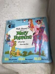"""WALT DISNEY Read A Loud Record Book Children STORY OF MARY POPPINS 1965 7"""" USA"""