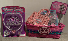 NEW KIDS PRINCESS toy gift basket JEWELRY PLAY SET BIRTHDAY