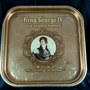 King George IV Old Scotch Whisky Serving Tray Reginald Corfield Ltd Bar Vintage