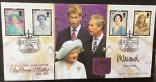 Benham 25.4.2002 Queen Mother FDC Signed by INGRID SEWARD,(ROYALTY MAGAZINES)