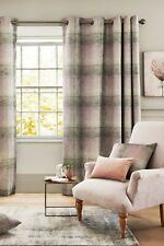 """NEXT Sage ASTLEY CHECK Woven Curtains (Sage Green/Pink) 53 x 54"""" RRP £80 NEW"""
