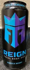 NEW REIGN TOTAL BODY FUEL RAZZLE BERRY ENERGY DRINK 16 FL OZ FULL CAN BCAA AMINO