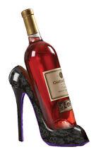 High Heel Shoe Wine Bottle Holder For Stylish Wine Gift Baskets – Black