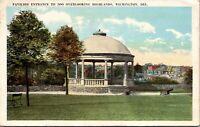 Wilmington Delaware Zoo Pavilion Entrance 1926 Postcard