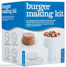 Kitchen Craft Home Made Ham / Beef Burger Press Maker - Recipe & 100 Wax Discs
