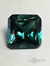 Tourmaline Paraiba. Radiant cut 10x10mm. 4,9 Ct. Created Gemstone Monosital. US@