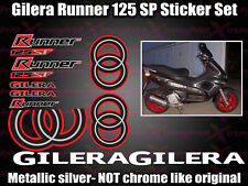 Gilera Runner 125 SP Stickers Decals, Red Black Silver White