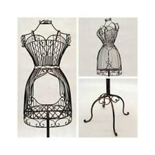 Women's Bronze Wire Metal Dress Form Mannequin With Adjustable Stand