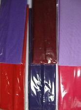 "6 Headband LOT PURPLE RAIN BOW Colors  2"" Continuous stretch Nylon"