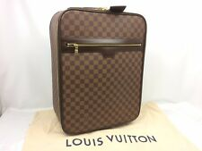 Auth LOUIS VUITTON Damier Ebene Brown Pegase 45 Rank A Travel Bag 7i040340N