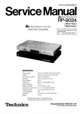 TECHNICS DBX RP-9024 RP 9024 - noise reduction unit - SERVICE MANUAL - email pdf