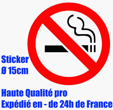 Sticker autocollant No smocking Adhésif vinyle interdiction interdit de fumer HQ