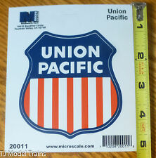 "Microscale Decal #20011 Union Pacific -- 4"" Die-Cut Vinyl Sticker"
