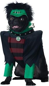 Frankenpup Dog Costume - LARGE - Frankenstein - Jacket, Collar, Hood - NWT