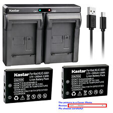 Kastar Battery Charger Kodak KLIC-5001 Kodak EasyShare P712 EasyShare P850