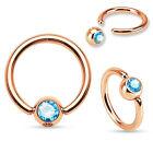 BCR anello a clip SETTO anello piercing al Trago UNIVERSALE Helix NASO ORECCHIO